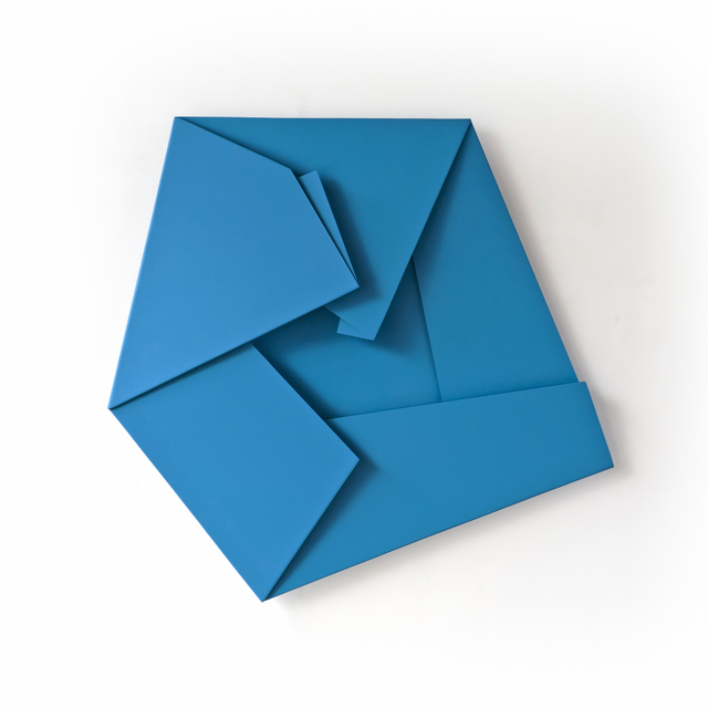 , 'Large Blue Folded Flat 01,' 2015, Häusler Contemporary