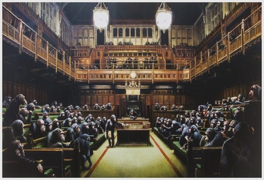 After Banksy, 'Monkey Parliament,' 2009, Forum Auctions: Editions and Works on Paper (March 2017)