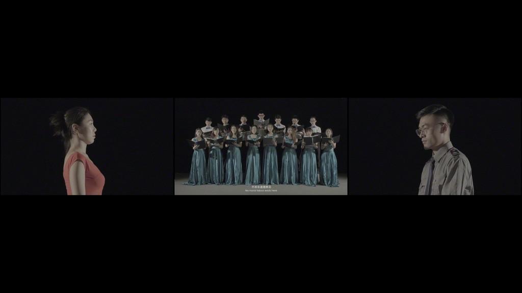 Videostill / Video still Julia Stoschek Collection, Düsseldorf YAO Qingmei, THE ECDYSIAST-MOLT, 2017 Dreikanal HD-Video, 9', Farbe, Ton / Three-channel HD video, 9', color, sound  Bild / Image:  Courtesy the artist and Magician Space