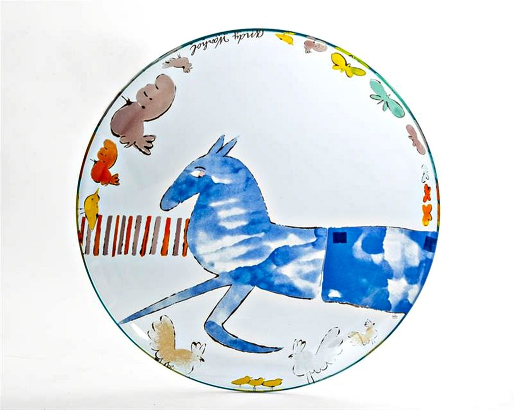 andy warhol vintage rosenthal charger plate available for sale artsy. Black Bedroom Furniture Sets. Home Design Ideas