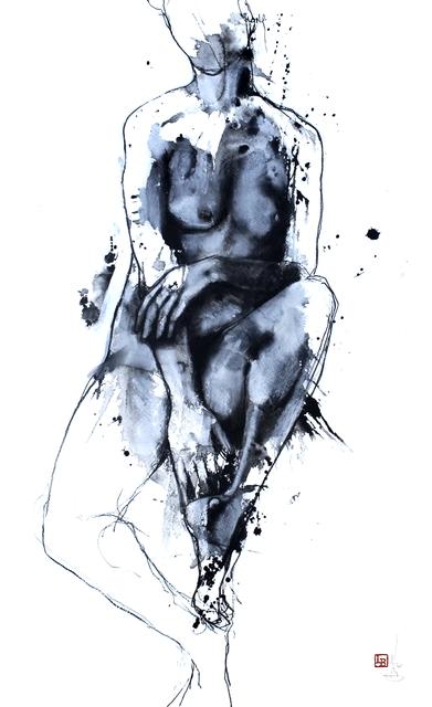 Laurent Bergues, 'FEMME ASSISE, SCULPTURE SUR TACHE', 2019, Poulpik Gallery