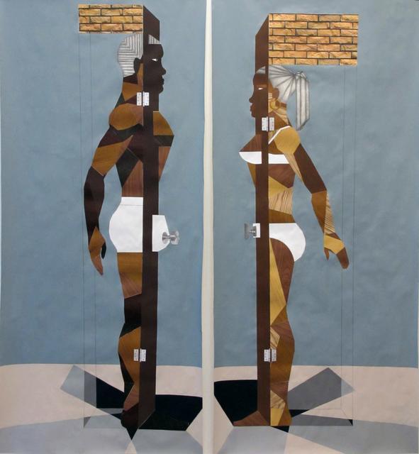 , 'Human Structure Casting Shadows pair ,' 2012, Galerie Anne de Villepoix