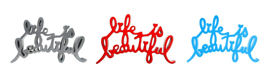 Life Is Beautiful sculptures by Mr. Brainwash