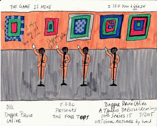 , 'T.D.B.C. Presents The Four Tops,' 2015, Tatjana Pieters