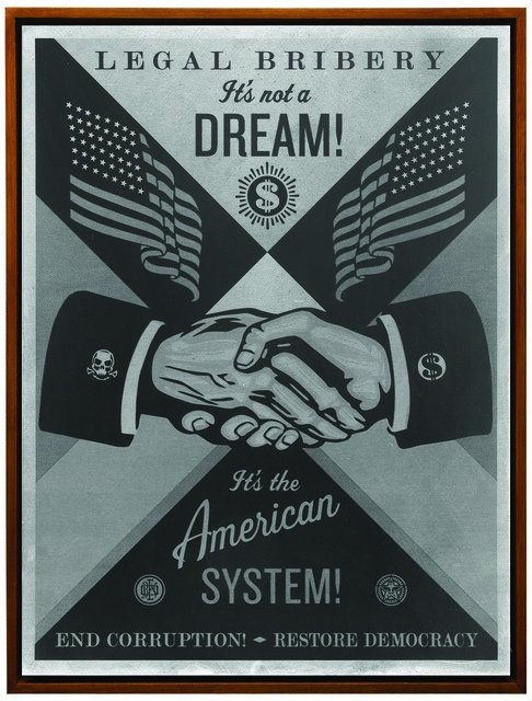 Shepard Fairey (OBEY), 'End Corruption', 2015, Underdogs Gallery