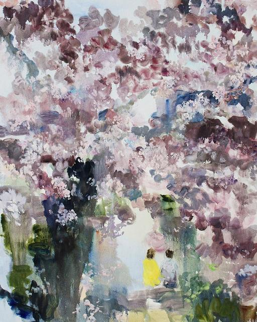 Darlene Cole, 'Entwine (love + cherry blossoms)', 2019, Painting, Oil on Canvas, Bau-Xi Gallery