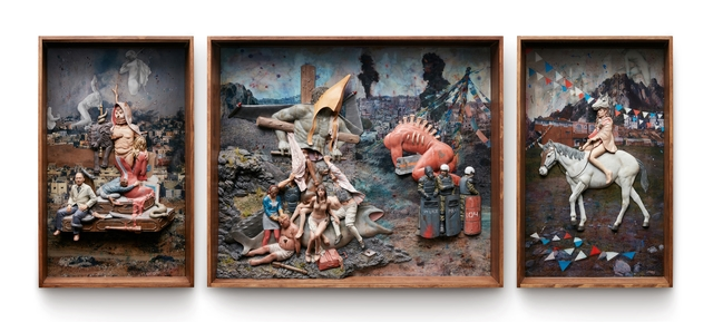 , 'Matador (Triptych) ,' 2015, Christine Park Gallery