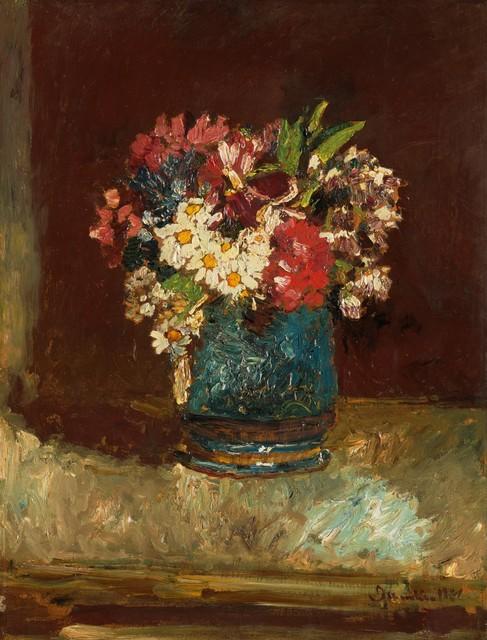 Adolphe Monticelli, 'Flowers in a Blue Vase', ca. 1875, Clark Art Institute