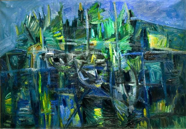 , 'Barche in un porto (Boats in a harbor),' ca. 1952, R. S. Johnson Fine Art