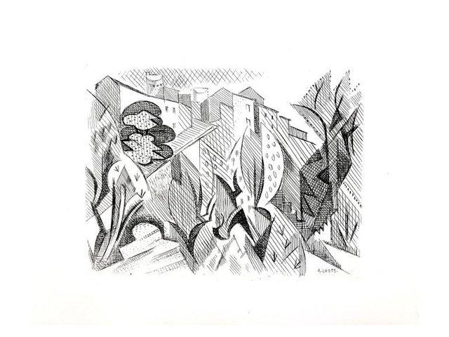André Lhote, 'André Lhote - Cubist Landscape - Original Etching', 1946, Galerie Philia
