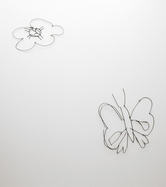 , 'Abetare (Flower and Butterfly),' 2017, ChertLüdde