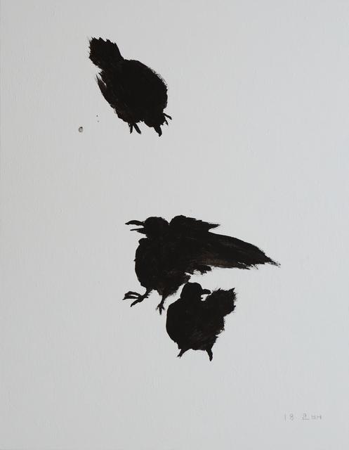 , 'Crows on Snow,' 2018, Hakgojae Gallery