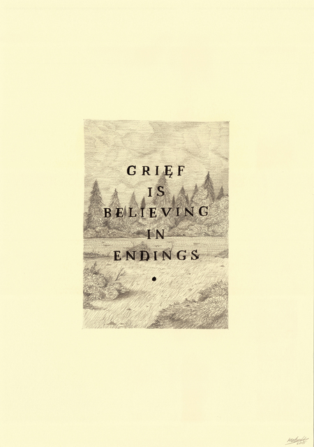 , 'Grief is Believing,' 2016, Rhodes