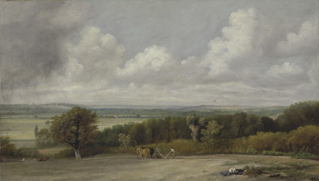 John Constable, 'Ploughing Scene in Suffolk', 1824 to 1825, Yale Center for British Art
