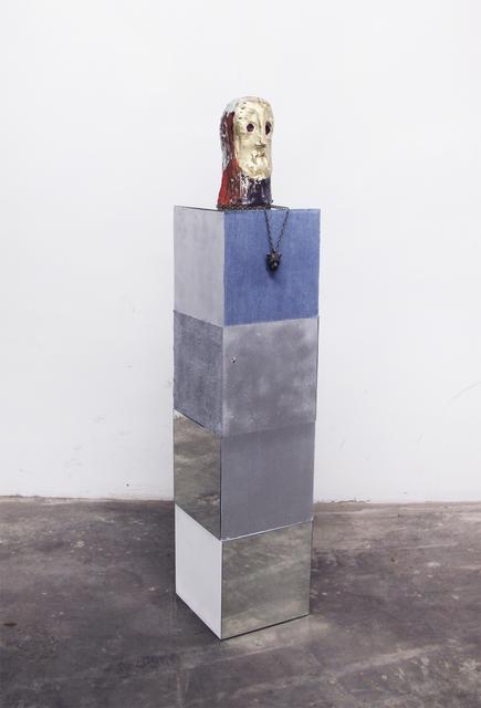 , 'Man with a golden Face,' 2015, Galerie Clemens Gunzer