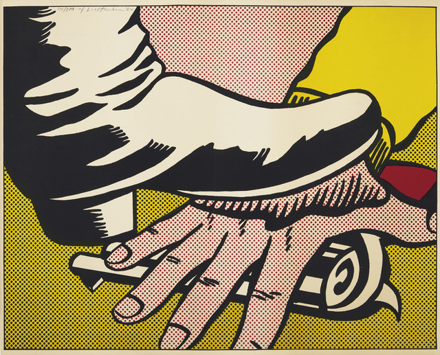 Roy Lichtenstein, 'Foot and Hand', 1964, Print, Offset lithograph in colors, on wove paper, Christie's