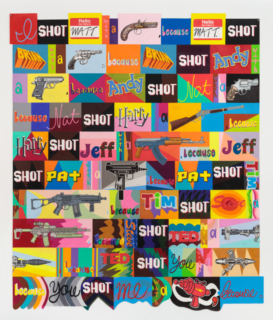John O'Connor, 'I Shot', 2018, Drawing, Collage or other Work on Paper, Graphite and colored pencil on paper, Pierogi