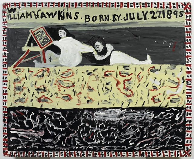William Hawkins, 'WOMAN WITH EASEL', 1989, Ricco/Maresca Gallery