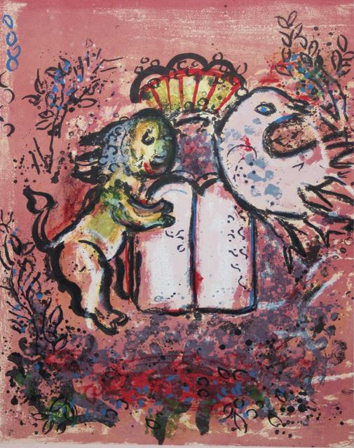 Marc Chagall, 'The Tables of The Law', 1962, Print, Original Color Lithograph, Inviere Gallery