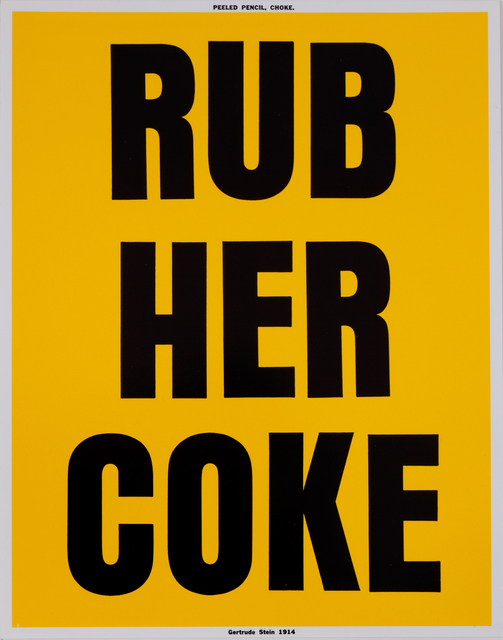 , 'RUB HER COKE,' 2006-2007, MIER GALLERY