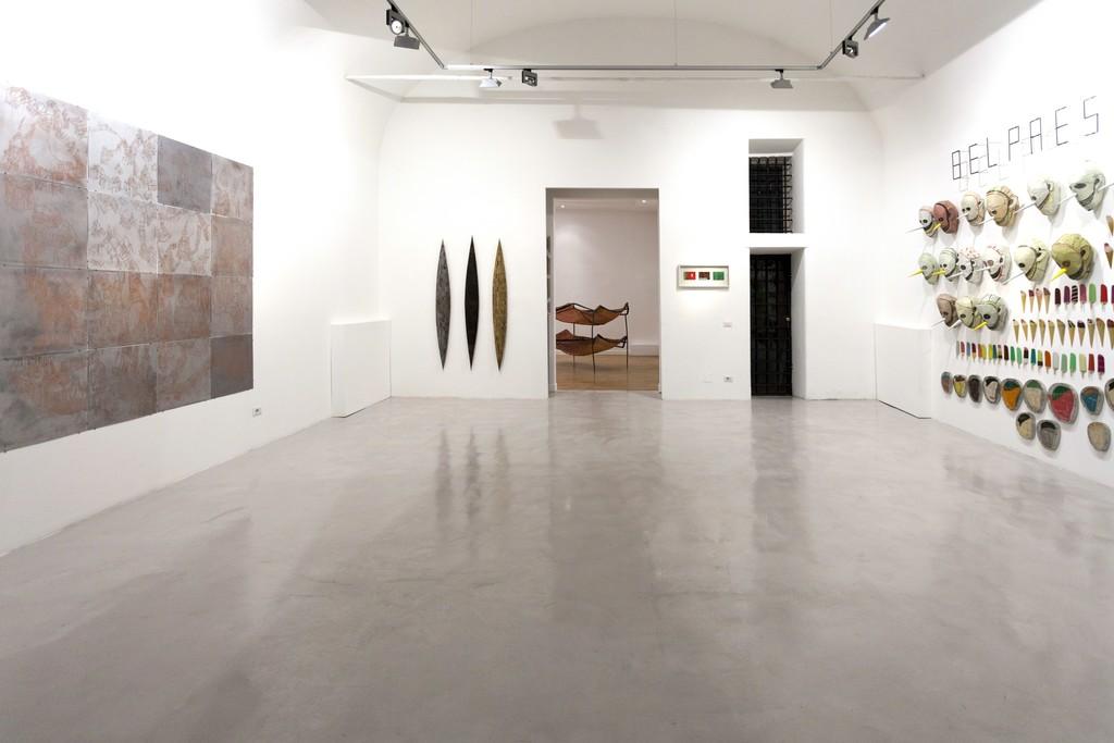 Installation view: Federico Guerri, Remo Suprani, Mattia Vernocchi e Francesco Bocchini