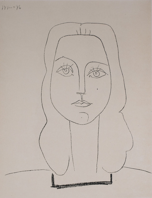 Pablo Picasso, 'Francoise, 1949 Limited edition Lithograph by Pablo Picasso', 1949, White Cross