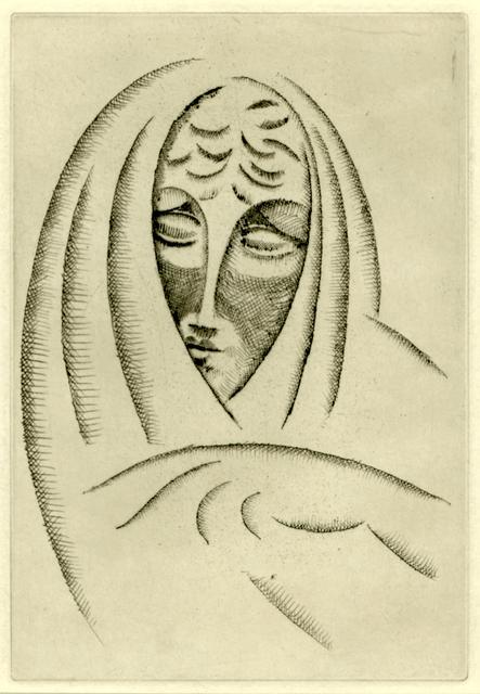 , 'Woman's Head,' ca. 1920, Thomas French Fine Art