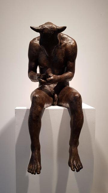 Beth Carter, 'Reading Minotaur III', Sculpture, Resin ( bronze resin), Hugo Galerie
