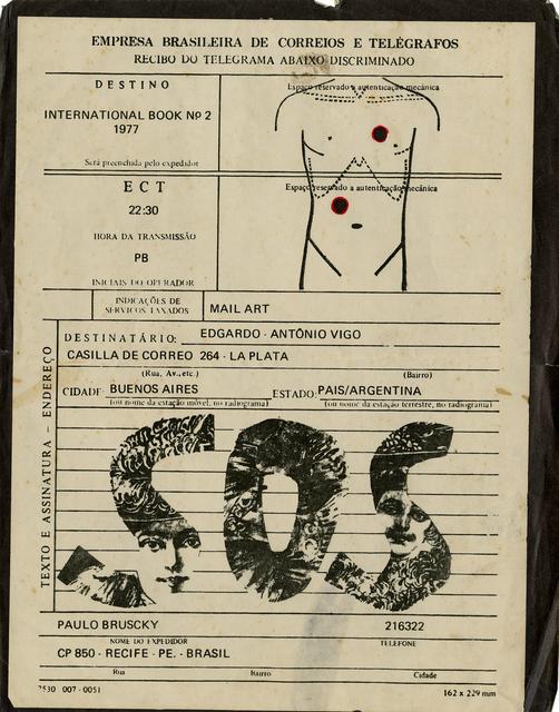 , 'SOS: telegram for Vigo ,' 1977, Galeria Nara Roesler