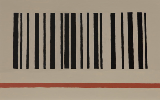 , 'Barcode and Red Stripe,' 2013, Barbara Edwards Contemporary
