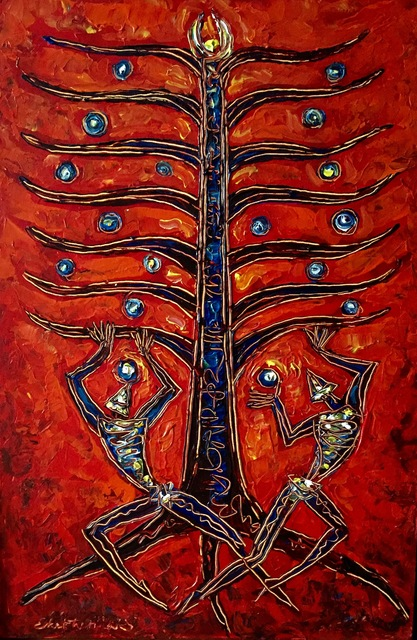 , 'Tree of Life Red,' , Ashok Jain Gallery