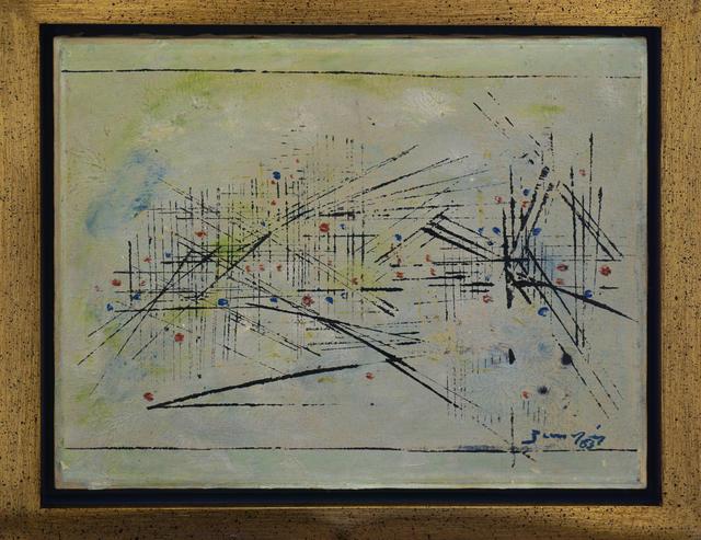 Antônio Bandeira, 'Composição em verde', 1963, Painting, Oil on canvas, Dan Galeria