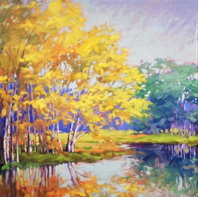 Margaret Gerding, 'River Birches', 2018, Galerie Sono