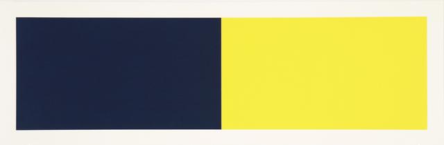, 'Rivers & Mountains/2, Blue-Green/Yellow,' 2018, Manneken Press