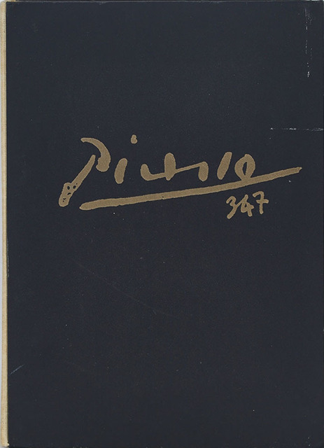 Pablo Picasso, 'Picasso 347 (2 Volumes)', 1970, Print, Two volumes illustrated with a total of 347 facsimile gravures; contained in a cream buckram over black cloth gilt embossed hard cover box, opening to a purple felt lined interior and the two similarly bound volumes containing the plates., Waddington's