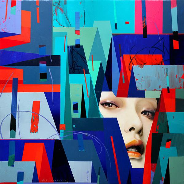 "Erik Jones, '""City Searching""', 2014, Hashimoto Contemporary"