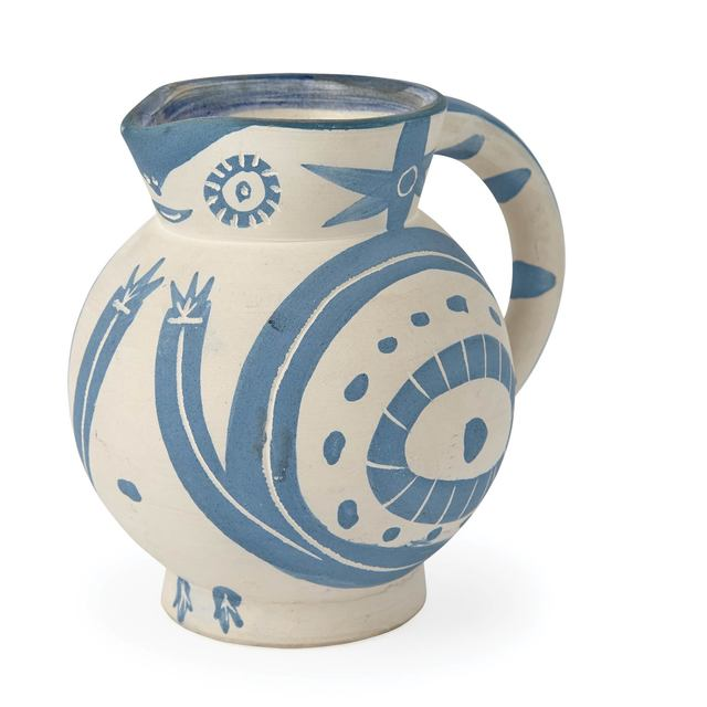 Pablo Picasso, 'Petit Chouette (Not In Alain Ramié)', circa 1949, Design/Decorative Art, Painted and partially glazed (interior only) white ceramic pitcher, Doyle