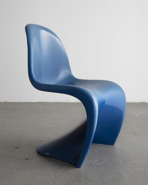 , 'Stacking Side Chair in Blue. ,' 1973, R & Company