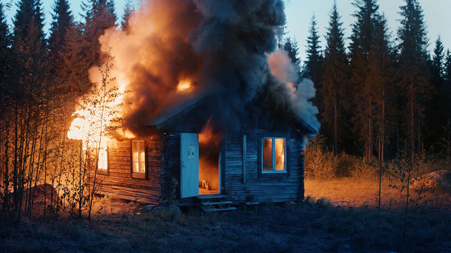, 'Scenes from Western Culture, Burning House,' 2015, McEvoy Foundation for the Arts