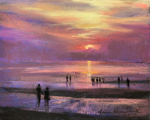 , 'Sunset on the Flats,' ca. 2018, Copley Society of Art