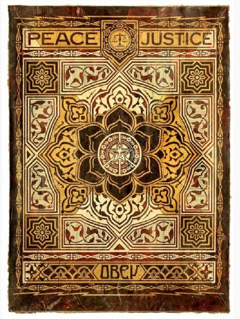 Shepard Fairey, 'Peace and Justice 4', 2013, Samuel Owen Gallery