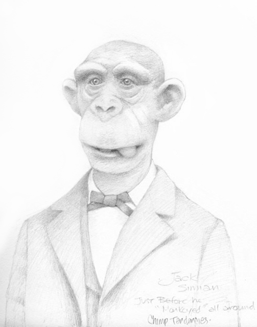 Travis Louie, 'Monkey All Around', 2016, William Baczek Fine Arts