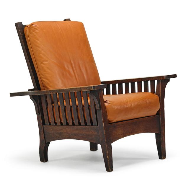 L. & J.G. Stickley, 'Onondaga Shops, Morris Chair, Fayetteville, NY', ca. 1902, Rago/Wright