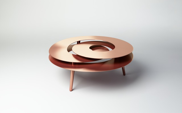 , 'Rollercoaster Medium Table (Copper Plated),' 2014, Gallery ALL