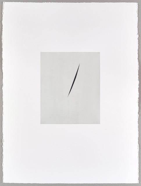 , 'Payne's Grey Split (II) ,' 2016, Parafin