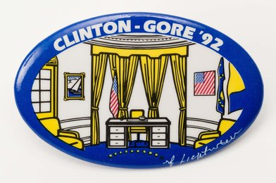 Oval Office for Clinton-Gore Political Campaign Button
