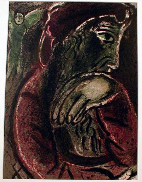 Marc Chagall, 'Job in Despair', 1960, Print, Lithograph, Galerie d'Orsay