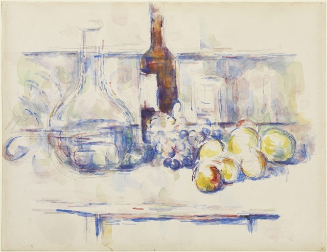 , 'Still Life with Carafe, Bottle, and Fruit,' 1906, Princeton University Art Museum