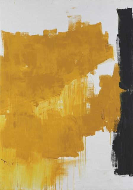, 'Yellow Abstraction,' 1995, 10 Chancery Lane Gallery
