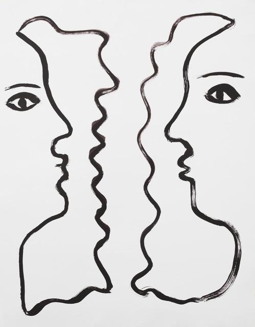 , 'rostros enfrentados,' 2015, Otero